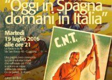 19 luglio 2016 – OGGI IN SPAGNA DOMANI IN ITALIA