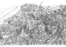 Città viste dall'alto Disegni di Sandro Migliarini
